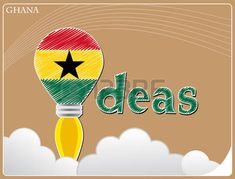 Idea concept made from the flag of Ghana