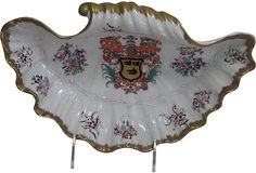 Hand-Painted Armorial Dish