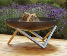 Steel Fire Pit YANARTAS Large Contemporary Design by ArpeStudio