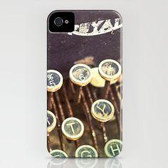iPhone 5, iPhone case, typewriter photo, vintage typewriter, case for iPhone 5, type keys, iPhone accessory, cell phone case. $42.00, via Etsy.