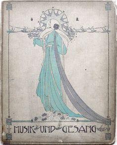 ⁘ Jessie M. King ⁘ Glasgow School art illustrator, jewelry & fabric designer - Musik Und Gesang, c. 1902