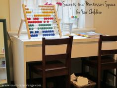 Secrets to Montessori playroom. Very good tips