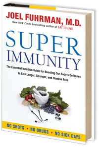 Super Immunity by Dr. Joel Fuhrman.  Everyone should read this book and have the knowledge that resides inside it's covers!  This is for anyone who wants to live a long and disease-free life!  I love this book!