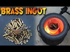 Making a 5 pound brass ingot from start to finish. Some bullet casing you see in this video look like metal but they are the nickel plated brass shells. Brass melting point is or Coffee Can Forge, Melting Metal, Melting Point, Diy Forge, Forging Tools, Bullet Shell, Blacksmith Shop, Bullet Casing, Metal Shop