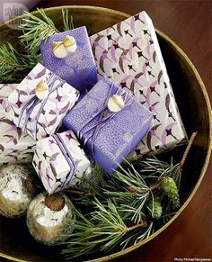 How gorgeous are these gifts, right? Find out where to get the wrapping paper --> http://bit.ly/1zufkEU