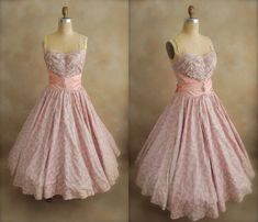 Vintage 1950's Prom Dress  50s Bombshell  50s Party by chiffonier,