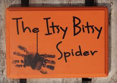 whims of tim: Itsy Bitsy Spider Handprint Sign