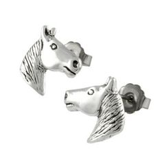 Silver Horse Head Stud Earrings — $13   Community Post: 40 Horse Accessories For Your Inner Tina Belcher