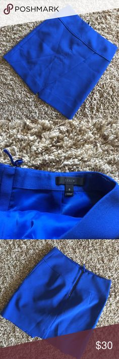 J. Crew Blue Pencil Skirt Size 0. No flaws. So flattering, comfortable on. J. Crew Skirts Pencil