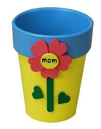 Mom Painted Flower Pot