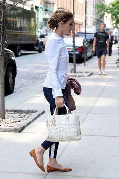 OP | Olivia Palermo | CH Carolina Herrera bag | Zara blouse