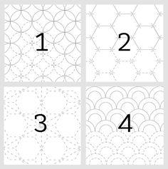 sashiko patterns by Natalie Stopka