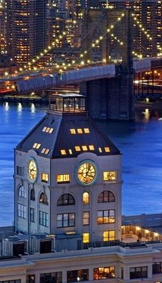 The Clock Tower - Brooklyn, New York- Images of the Penthouse- ON HOW I WISH I COULD LIVE THERE! The stunning clock face window!