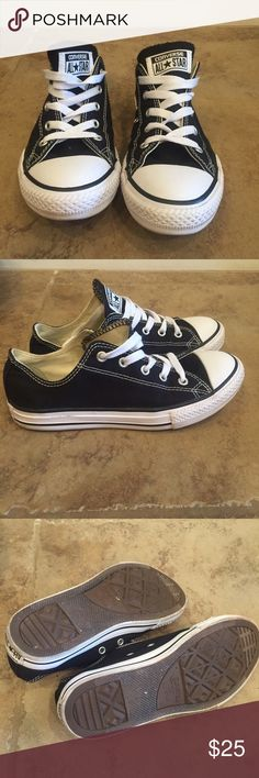 Converse low tops Converse low tops black. Great condition. Youth size 3. EU 35. No box and no trades. Converse Shoes Sneakers