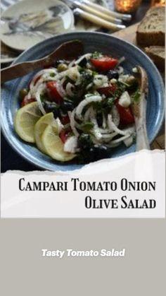 Different Salads, Olive Salad, Tomato Salad, Easy Salads, Healthy Salad Recipes, Lettuce, Onion, Tasty, Ethnic Recipes