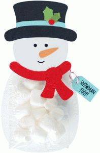 Silhouette Design Store: snowman treat bag holder  by Amy Robison