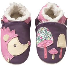 d48ab0d748cf1 Chaussons bébé cuir souple fourrés Erika le hérisson- Chaussons bebe cuir -  chaussons bébé en cuir - chaussons en cuir souple
