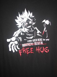 Who wants a huuuuug? >:D. YGO Abridged Series t-shirt.