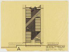 The Pritzker Architecture Prize1988 Gordon Bunshaft -National Commercial Bank in Jeddah  이 건축물은 사무공간과 중앙정원이 특징적인 건축이다.  삼각형 타워는 7층, 9층, 7층으로 3부분으로 나누어져 있으며 각 구간의 사무공간은 모두 로지아(logia), 혹은 공중정원이라고 불리는 곳을 향하게 된다. 로지아는 창문이 없는 사무공간 내부에 빛을 투과시키는 역할을 하며 더불어 건물의 환기, 건물의 열을 식히는 역할까지 하는 가장 중요환 요소라고 할 수 있다. 폐쇄된 벽면 공간은 로지아에 그늘 공간을 만들어 로지아에서 도시를 조망하며 휴식할 수 있는기능을 제공해 준다.