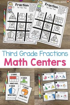 3rd Grade Fraction Math Centers - This download contains 344 pages of fractions materials for your third graders. You'll get 25 hands on games and activities. Easy to differentiate! Your classroom and homeschool students will develop an understanding of fractions as numbers, explain and create equivalent #fractions, and compare two fractions by reasoning about their size. Many standards are covered! Many are NO PREP. #3rdGradeMath 3rd Grade Fractions, Math Fractions, 3rd Grade Math, Third Grade, Equivalent Fractions, Math Centers, Activity Centers, 3rd Grade Classroom, Guided Math