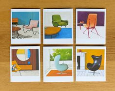 """I haven't met a mid-century chair I didn't like and now that they are featured on note cards, I couldn't be happier."" - Jaime Derringer #DesignMilk"