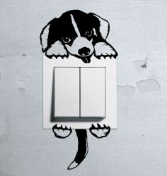 Cute Puppy Baby Beagle Dog light switch funny wall decal vinyl stickers pet | eBay