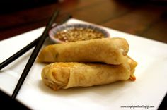 Baked Egg Rolls, With a Twist recipe - Foodista.com
