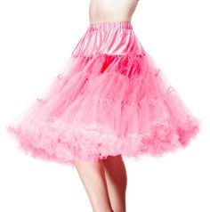 "HELL BUNNY 25"" - 27"" 50s Rockabilly Swing Petticoat Plus Size - Flamingo Pink - $49.95"