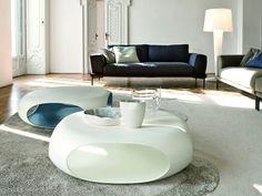 Low polyethylene coffee table PEBBLE Pebble Collection by Bonaldo | design Matthias Demacker