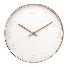 Copper and white contemporary clock