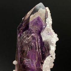 A Perfect Amethyst Phantom in Alignment with the Crystals Termination • Amethyst Phantom Quartz   #amethyst #phantomquartz #purple