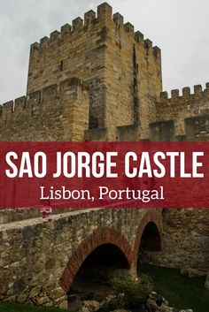 Discover the Lisbon Castle of Sao Jorge - it offers some of the best views of the beautiful Lisbon city, its river and bridge. A must-do while in Lisbon. Video, Photos and planning tips in the article   Portugal Travel Guide   Portugal Lisbon   Lisbon Por