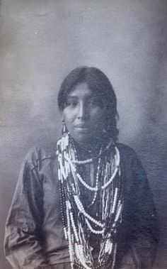 """""""Bessie Wolf (Omaha)(Front)""""   Photograph by F. A. Rinehart, 1898"""