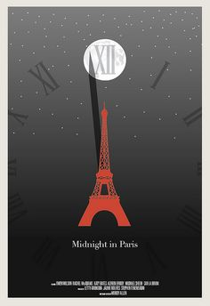 $50.00  Midnight in Paris poster by Hunter Langston