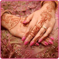 Mehndi hand painting