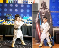 A Star Wars Legos & Lightsabers Party
