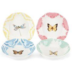 Butterfly Meadow® Trellis 4-piece Fruit Dish Set by Lenox