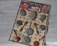 Favorite Toys Of The 1950S | Toy Cooking Set Vintage French 1950s by LaManche