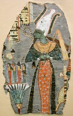 Osiris, painting from the tomb of Kynebu in Thebes, 20th Dynasty (reign of Ramses VIII)