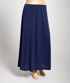 Look what I found on #zulily! Navy Solid Maxi Skirt - Plus by DJ Summers #zulilyfinds
