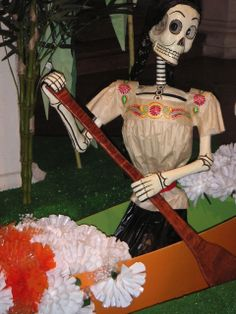 "Mexico: Day of the Dead (""catrina"" for María Félix in one of her most famous roles, María Candelaria, in the eponymous 1943 film). Museo Dolores Olmedo, 11/2005"