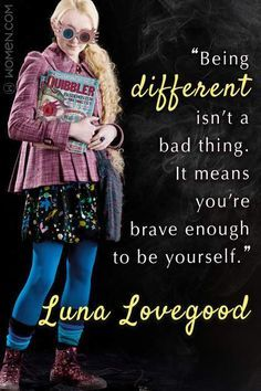 """Every Wizard Should Live By These 15 Harry Potter Quotes - """"Being different isn't a bad thing. It means you're brave enough to be yourself."""" – Luna Lovegood Your Small Launch So that you can Harry Potter Citation Harry Potter, Harry Potter Blog, Images Harry Potter, Harry Potter Jokes, Harry Potter Universal, Harry Potter Fandom, Harry Potter World, Quotes From Harry Potter, Harry Potter Things"""