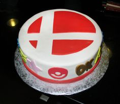 Smash Bros cake made in honor of Super Smash Bros for the Nintendo 3DS
