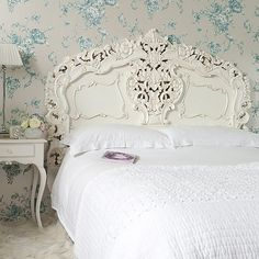 Love the French country style with ivory creams and rattan style ...