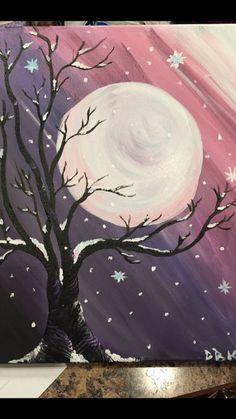 Luna llena #canvaspaintingideas