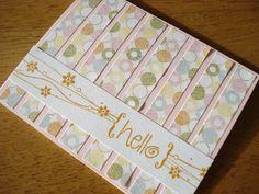 84.あまっている紙でHelloカード | 簡単手作りカード                                             Chocolate Card Factory