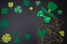 st patricks day handmade green hat bow clover leaves