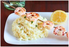 Dinner For Two: Lemon Risotto with Grilled Shrimp by DessertForTwo.com