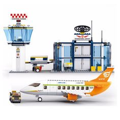 27.18$  Watch here - http://alic38.shopchina.info/go.php?t=32740205446 - Sluban Model building kits compatible with lego city plane Airport 845 3D blocks Educational toys hobbies for children 27.18$ #magazineonlinewebsite