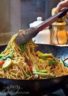 Vegetable Lo Mein Recipe (Homemade Pasta)